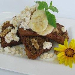 Banana Bread with Cinnamon Olympus Ricotta, Walnuts and Honey