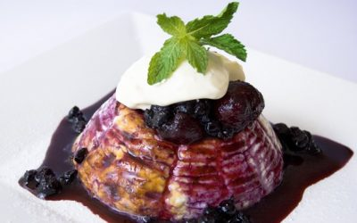 Olympus Baked Ricotta with Mixed Berry Compote