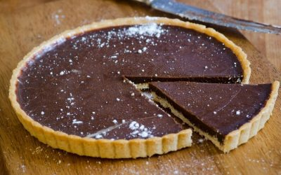 Chocolate and Olympus Ricotta Tart