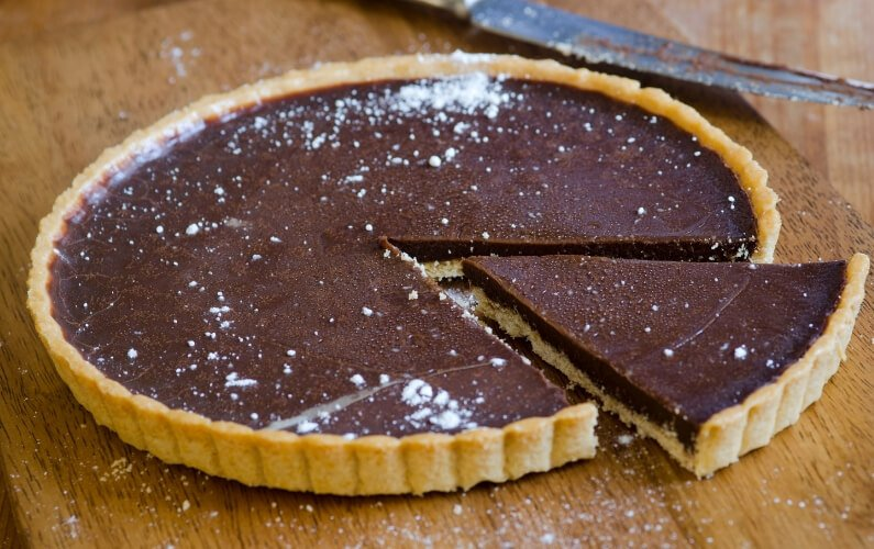 chocolate ricotta tart