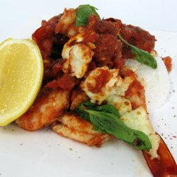 Traditional Greek Baked Prawns with Fetta