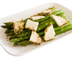 Blanched Asparagus with Olympus Lemon Pepper Ricotta