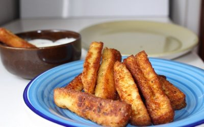 Delicious Halloumi Fries Paired with Olympus Greek Yoghurt Dip