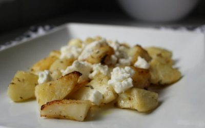 Greek Lemon Potatoes with Olympus Fetta