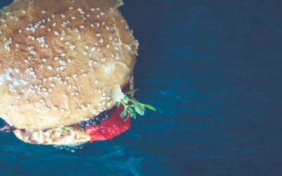 Halloumi and Mushroom Burger