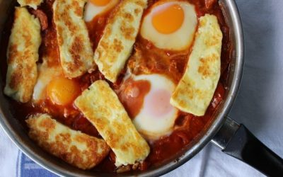 Halloumi and Chorizo Shakshuka