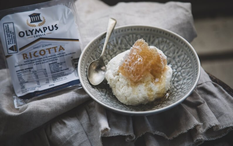 Whipped Ricotta with Honey and Yoghurt