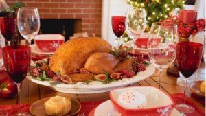 turkey on the christmas table