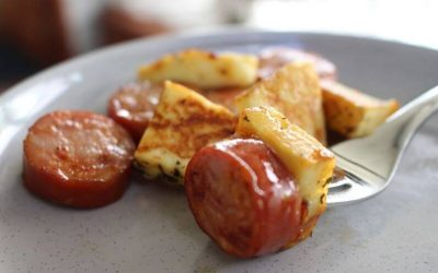 Chorizo and Halloumi Starter with 10 Dipping Sauce Options