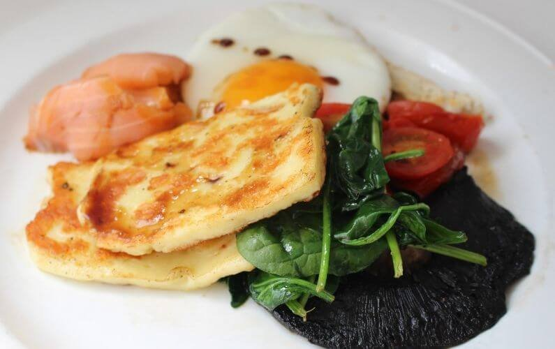 ultimate halloumi cheese breakfast