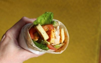 Halloumi and Avocado Wrap with Chicken