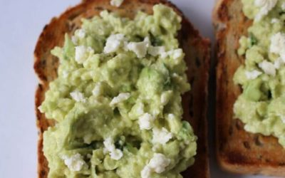 Smashed Avocado and Fetta on Toast