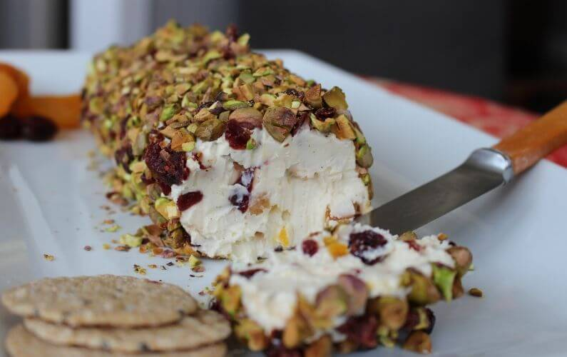 Fetta, Pistachio & Cranberry Cheese Log