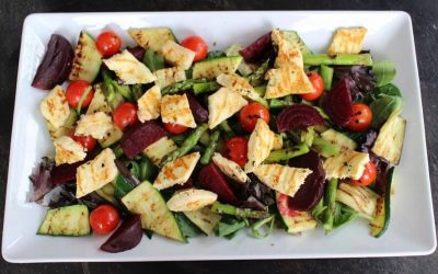 Grilled Halloumi and Vegetable Salad