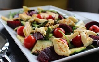 Halloumi and Grilled Vegetable Salad