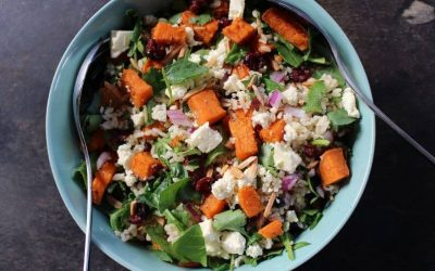 Fetta and Sweet Potato Salad with Brown Rice