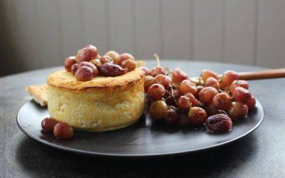 Baked Ricotta with Roasted Grapes
