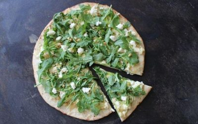 Lemon Ricotta Pizza with Garlic & Rocket