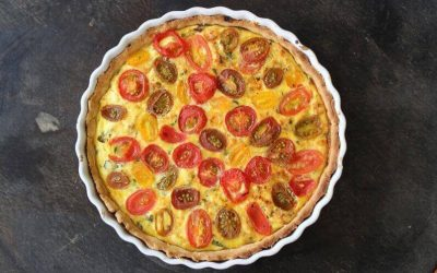 Olympus Ricotta and Cherry Tomato Tart