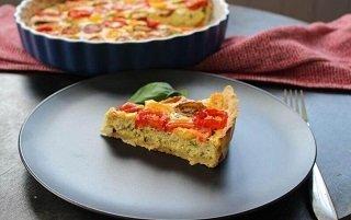 ricotta tomato tart with basil